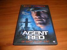 Agent Red (DVD, Full Frame 2004) Dolph Lundgren, Scott Schwartz Used OOP