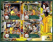 Stamps Cinema Cartoons Snow White and 7 dwarfs