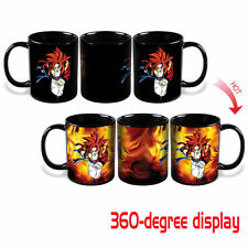 New Dragon Ball Z SSJ Gogeta Heat Reactive Color Changing Ceramic Coffee Mug Cup