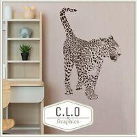 Cheetah Vinyl Wall Sticker Transfer Decal Art Big Cat Decor Wild Animal Graphic