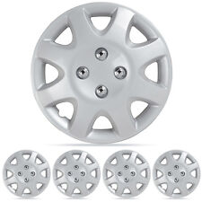 """Wheel Covers Fits Honda Civic 95-01 Hubcaps 4PC Silver 14"""" ABS OEM Replica"""