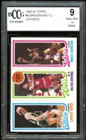 1980-81 Topps #6 Larry Bird /Erving / Magic Johnson Rookie BGS BCCG 9 Near Mint+