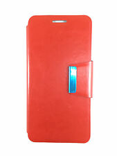 COVER CASE FOR MOTOROLA GOOGLE NEXUS 6 COVER WITH CLOSURE OF MAGNETIC RED