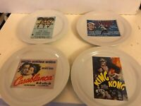 Pottery Barn Set Of 4 Classic Movie Appetizer Plates 8""