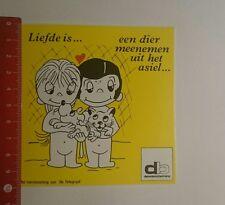 Aufkleber/Sticker: db dierenbescherming liefde is (17011774)