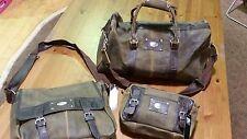 Dallas Cowboys 3 Piece Leather Luggage Set- Duffle, Messenger & Travel Kit
