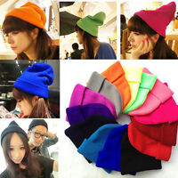 Fashion Winter Warm Hip-Hop Hat Unisex Women Men Knit Ski Crochet Beanie Ski Cap