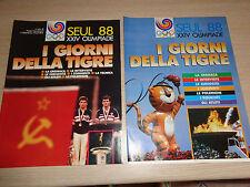 2 INSERTI OLIMPIADI SEUL 1988 88 XXIV OLIMPIADE I GIORNI DELLA TIGRE