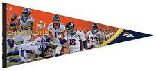 Denver Broncos Super Bowl 50 Moments Huge Xl Premium Felt Collector's Pennant