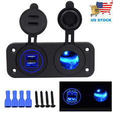 12V Dual USB Car Cigarette Lighter Socket Splitter Charger Power Adapter Outlet