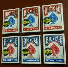 Lot of 6 Bicycle Playing Cards * Standard Size & Face * Brand New & Sealed