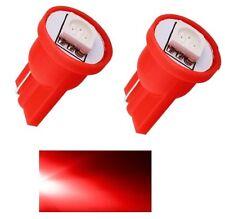 2 LUCI DI POSIZIONE LED ROSSO T10 SMD 5050 lampadina auto 6000K 12V W5W rossa