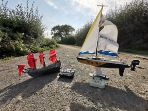 Rc Boats Toy Yacht Sail Boat Pirate Ship Galleon Model Retro Vintage