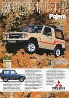 Mitsubishi Pajero Prospekt 1983 9/83 brochure Autoprospekt catalogue broschyr