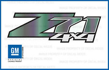 set 2: Z71 4x4 GMC Sierra 2007-2013 Decals Stickers Fade Green Purple Fig GRFIG