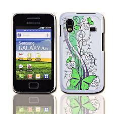 Design No.4 Handy Back Cover Case Samsung S5830 Galaxy Ace + Displayschutzfolie