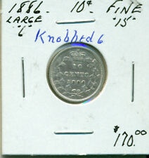 CAN 1886 Large 6 Knobbed 6 10 cents F15