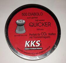 500 KKS Diabolo Quicker geriffelt 4,5mm Cal.177 CO² Luftgewehr Kugeln 490mg