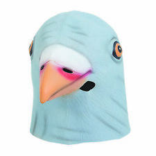Tauben Maske mit Kapuze Latex Tier Masken Vogel Kostüm Junggesellenabschied Neu