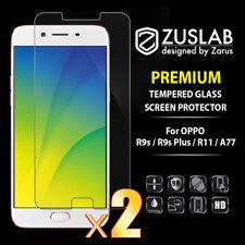 2 X OPPO R9s R9s Plus R11 A77 ZUSLAB 2.5 D 9H Tempered Glass Screen Protector