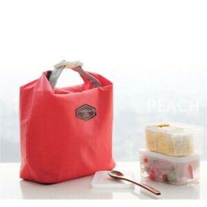 Portable Thermal Insulated Cooler Lunch Bag Case Picnic Bento Pouch R