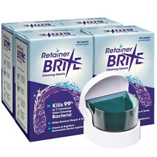 Retainer Brite 1 Year Supply ( 384 Tablets ) + Cordless Sonic Cleaner