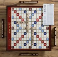 Winning Solutions Scrabble Giant Deluxe Edition Wooden Board Game NEW