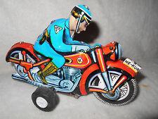 Ne-Kur Police Motorcycle Made in Turkey by Turk Mali Tin Litho Friction Powered