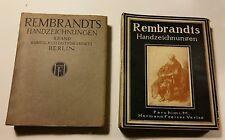 Rembrandts handzeichnungen livre II de 1914 Dessins de Rembrandts