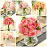 4 Colors 10 Heads Peony Flowers Home Party Wedding Bouquet Decoration Flowers