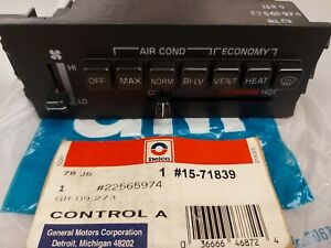 NEW 1987 88 89 90 Buick Skylark Somerset AC Heater Dash Control Panel NOS OEM GM
