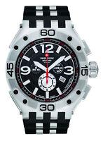 SWISS ALPINE MILITARY Chronograph Chrono Uhr NEU 50 mm groß Silikonband schwarz