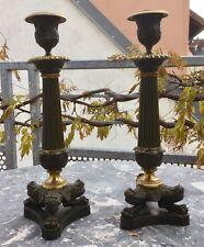 Paire De Bougoires Empire Bronze XIXème Empire / Restauration