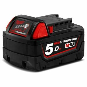 Genuine Milwaukee M18B5 18V 5.0Ah Li-Ion RED LITHIUM Battery RRP $158.40