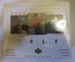 2001 TIGER WOODS UPPER DECK FACTORY SEALED GOLF TRADING CARD BOX-TIGER RC?