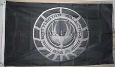 Battlestar Galactica BSG 75 3'x5 black Flag Banner Caprica Cylons - USA Seller