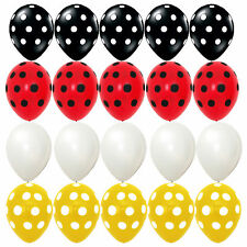 20X Latex balloons Mickey Mouse Polka dot Black red Yellow kid birthday Supplies