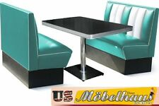 HW-120-T Set American Diner Bench Seating Furniture 50´S Retro USA Style
