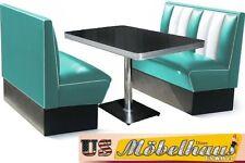 HW-120-T Set American Dinerbank Sitzbank Diner Bänke Möbel 50´s Retro USA Style