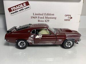 Danbury Mint 1969 Ford Mustang Boss 429 L.E. *Rare Royal Maroon Color Option