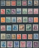 Lot Stamp Germany Bohemia Czech WWII 3rd Reich Hitler Red Cross Collection MNH