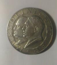 Piece Hitler - Mussolini  1938 10RM Reichsmark Coin ww2 German