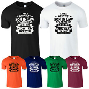 I'm A Proud Son In Law T Shirt Mother Novelty Mens Birthday Gift Funny Boys Tee