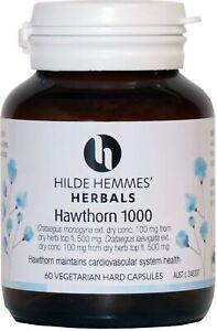 Hawthorn 1000mg 60 Capsules Hilde Hemmes Herbals
