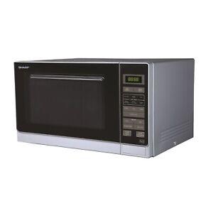 Sharp R372SLM 25L Digital Microwave Oven - Silver