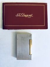 Original Vintage S T DuPont Paris France Ligne 2 White Gold  Plated