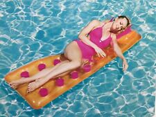 CRANE ADULTS INFLATABLE SWIM PLAY POOL BEACH BED LOUNGE PILLOW - DRINKS SLOT NEW