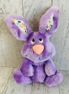 "Vintage Bunny Rabbit Named ""Jelly"" Plush 7"" Russ Berrie Beans On Ears"