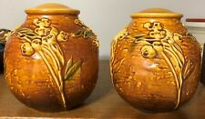 Roseville Pair Exceptional Ixia Factory Lamp Bases MINT!
