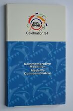 1994 Euro Tunnel Channel England France Commemorative Medallion